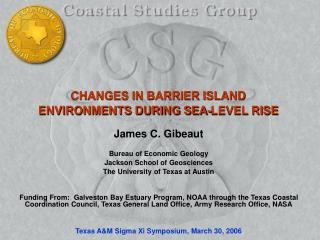 CHANGES IN BARRIER ISLAND ENVIRONMENTS DURING SEA-LEVEL RISE