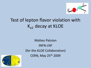 Test of lepton flavor violation with K e2   decay at KLOE