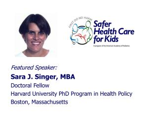 Featured Speaker: Sara J. Singer, MBA Doctoral Fellow