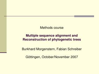 Tools for multiple sequence alignment