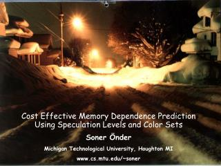 Cost Effective Memory Dependence Prediction Using Speculation Levels and Color Sets
