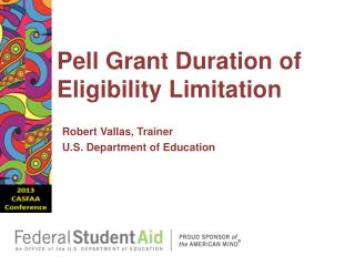 Pell Grant Duration of Eligibility  Limitation