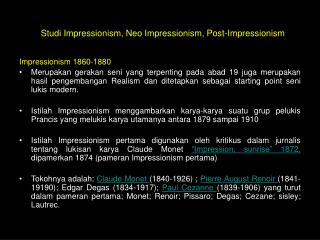Impressionism 1860-1880