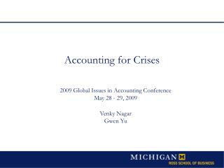 Accounting  for Crises