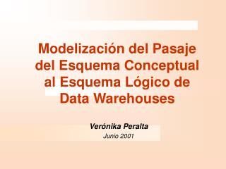 Modelización del Pasaje del Esquema Conceptual al Esquema Lógico de Data Warehouses