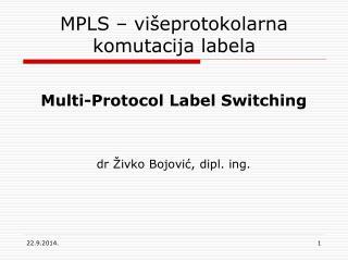 MPLS  – višeprotokolarna komutacija labela