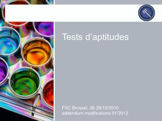 Tests d�aptitudes