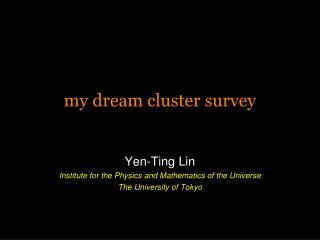 my dream cluster survey