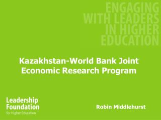 Kazakhstan-World Bank Joint Economic Research Program