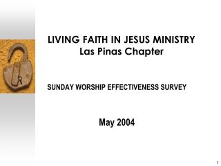 LIVING FAITH IN JESUS MINISTRY Las Pinas Chapter