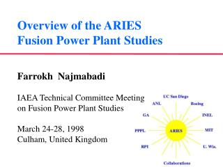 Overview of the ARIES Fusion Power Plant Studies
