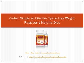 Certain Simple yet Effective Tips to Lose Weight