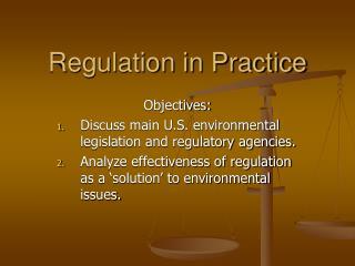 Regulation in Practice