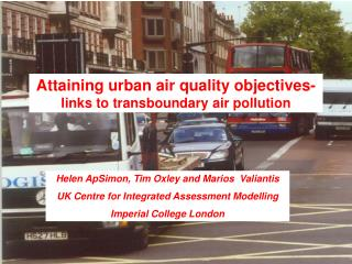 Attaining urban air quality objectives-  links to transboundary air pollution