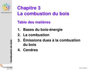 Table des mati�res