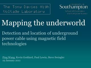Mapping the underworld