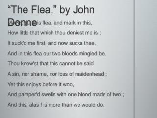 """The Flea,"" by John Donne"