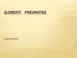 ELEMENTI pneumatike