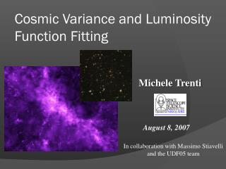 Cosmic Variance and Luminosity Function Fitting