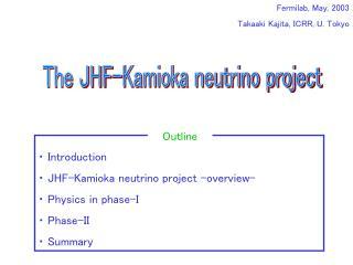Fermilab, May, 2003  Takaaki Kajita, ICRR, U. Tokyo