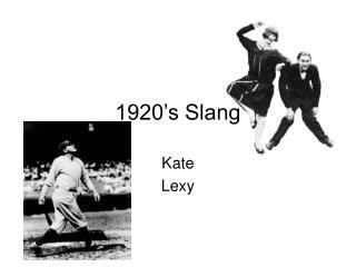 1920's Slang