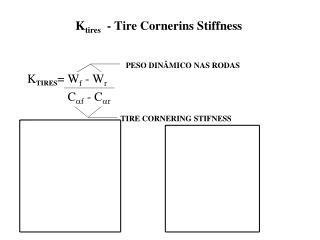 K tires   - Tire Cornerins Stiffness
