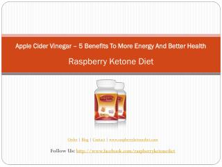Apple Cider Vinegar – 5 Benefits To More Energy And Better H