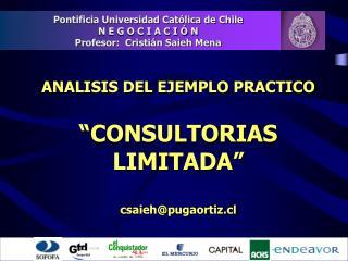 """ANALISIS DEL EJEMPLO PRACTICO """"CONSULTORIAS  LIMITADA"""" csaieh@pugaortiz.cl"""