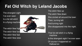 Fat Old Witch by Leland Jacobs