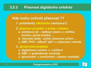 3.5.3P?esnost digit�ln�ho ortofota