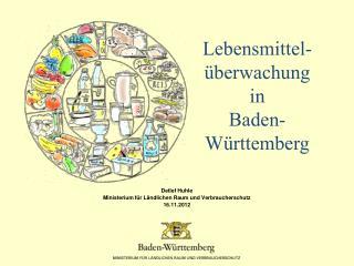 Detlef Huhle Ministerium für Ländlichen Raum und Verbraucherschutz 16.11.2012