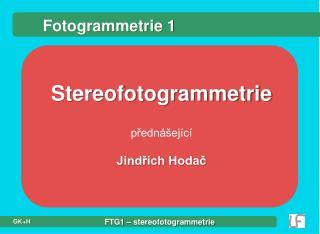Fotogrammetrie 1