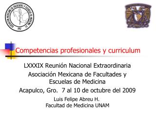 Competencias profesionales y curriculum