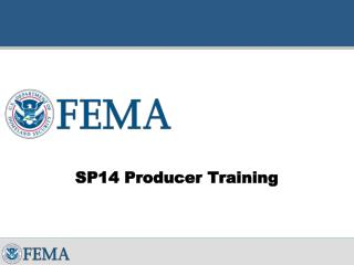 SP14 Producer Training