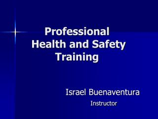 Professional  Health and Safety  Training