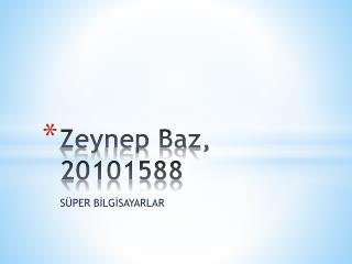 Zeynep Baz, 20101588
