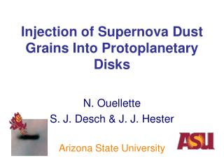 Injection of Supernova Dust Grains Into Protoplanetary Disks