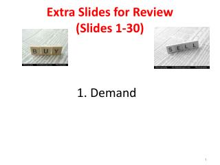 Extra Slides for Review (Slides 1-30) 1. Demand