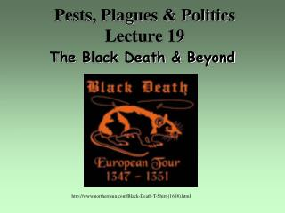 Pests, Plagues & Politics  Lecture 19
