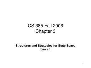 CS 385 Fall 2006 Chapter 3