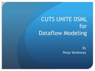 CUTS UNITE DSML  for Dataflow Modeling