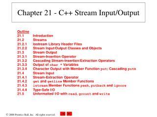 Chapter 21 - C Stream Input