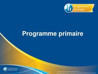 Programme  primaire