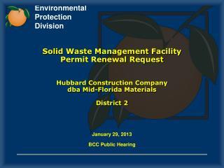 January 29, 2013 BCC Public Hearing