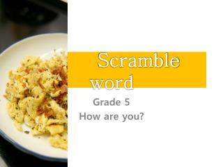 Scramble word
