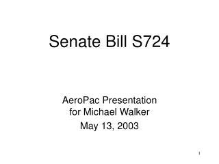 Senate Bill S724
