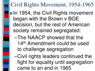 Civil Rights Movement, 1954-1965