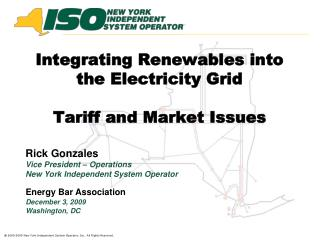 Integrating Renewables into the Electricity Grid  Tariff and Market Issues