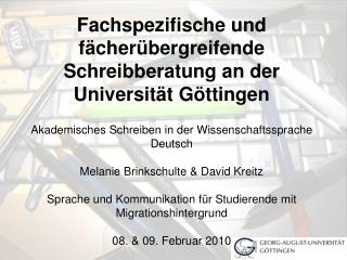 Schreibzentren der Universität Göttingen