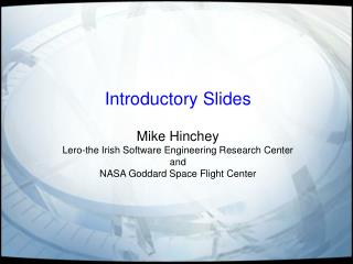 Introductory Slides